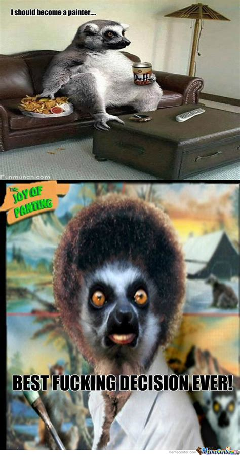Lemur Meme - ross lemur wants to paint happy trees by xxsinxx meme center