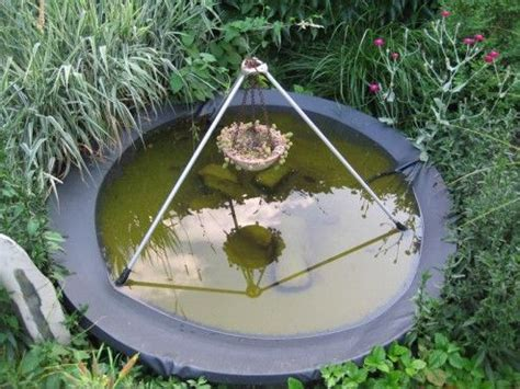 old satellite dish turned pond bird bath recycle pinterest
