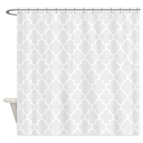 Light Grey Quatrefoil Shower Curtain By Inspirationzstore