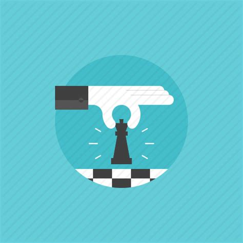 icon design tips business businessman chess figure game hand holding