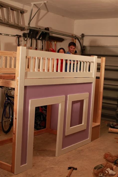 ana white princess bed  stairs   diy projects