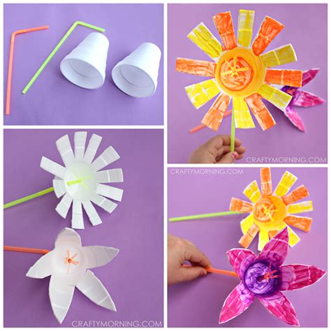 flower and craft for styrofoam cup flowers craft crafty morning