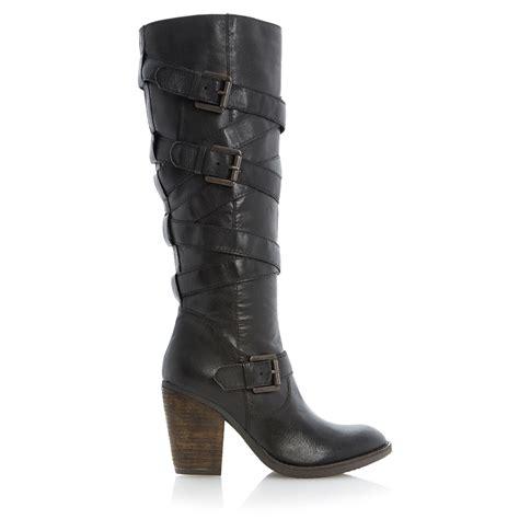 steve madden renegaid wrap around heeled knee high
