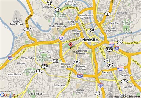 locations in nashville tn map of marriott nashville at vanderbilt nashville