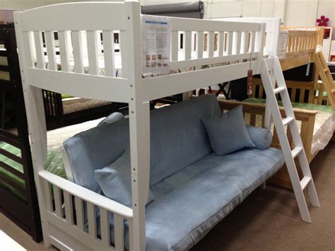 white futon bunk bed white wooden futon bunk bed