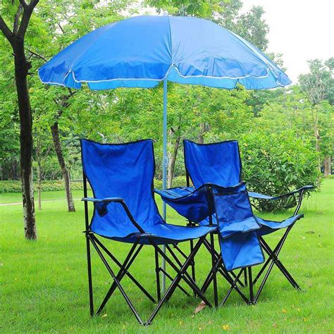 portable folding picnic double w umbrella