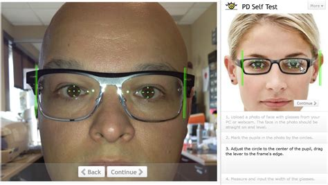 the optician measuring your own pupillary distance