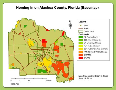 alachua county applications in gis rood week 6 homing in on alachua