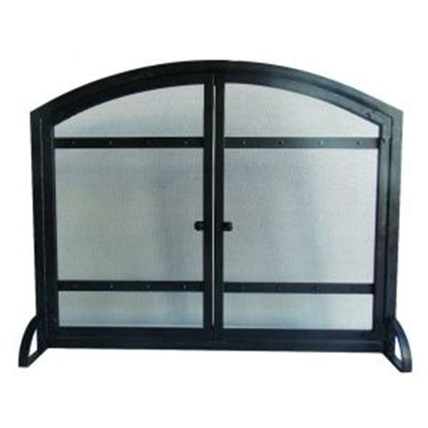 fireplace screen home depot pleasant hearth 1 panel fireplace screen with doors