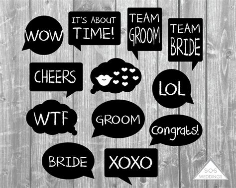 printable photo booth props words word bubble photo booth signs wedding photobooth signs photo
