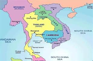 Cambodia World Map by Where Is Cambodia World Map Weltkarte Peta Dunia Mapa
