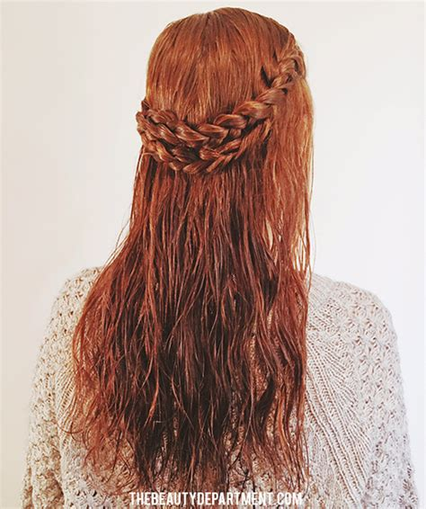 hairstyles to do when your hair s wet the beauty department wet hair style 1