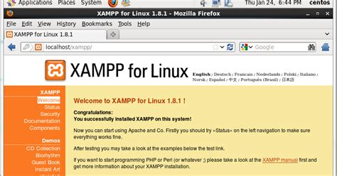 layout it localhost setup steps xampp for linux on centos 6 3