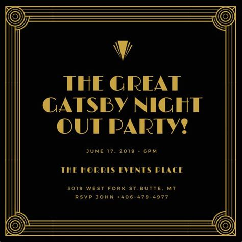 customize 65 great gatsby invitation templates online canva