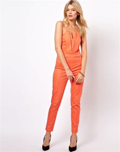 Asos Origami Jumpsuit - asos collection jumpsuit with pleat bust origami detail in