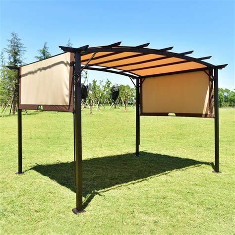 patio tent cover 12 x 9 sun shade pergola patio garden metal frame grape