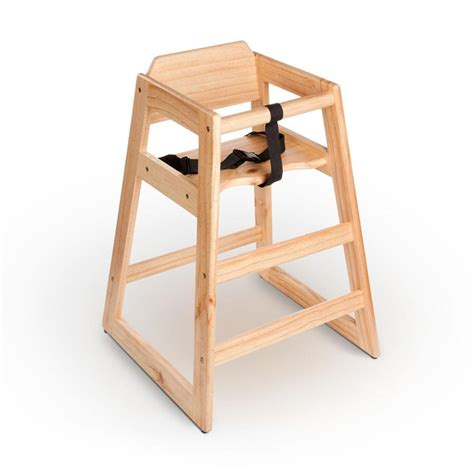 new restaurant style wooden high chair finish ebay