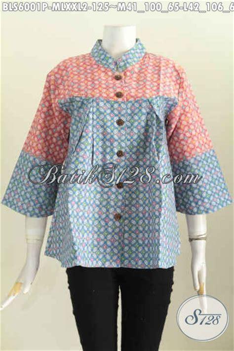 Atasan Jawa Shanghai baju blus batik kawung model kerah shanghai nagita busana atasan cewek til lebih keren dan