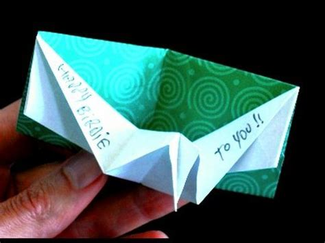 Pop Up Origami Card - how to make an origami birthday pop up card