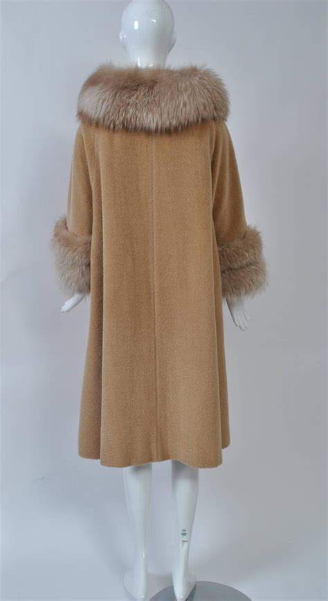 swing coats for sale lilli ann camel swing coat with fox for sale at 1stdibs