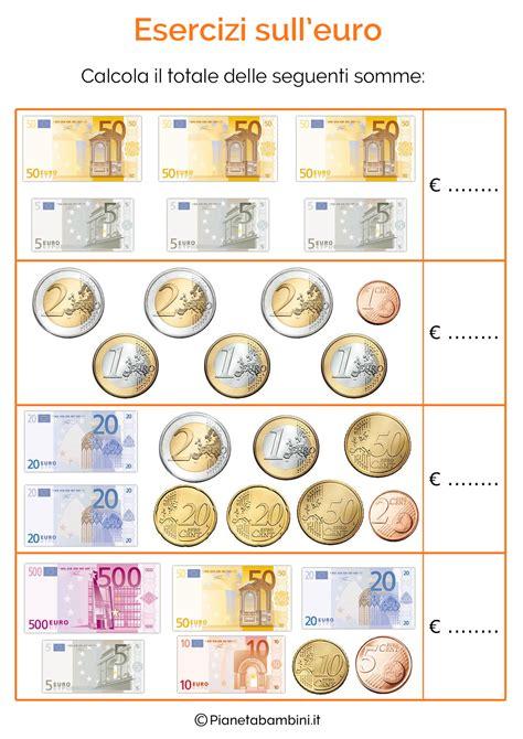 esercizi spagnolo con tutte schede didattiche con tabelle su tutte le monete e