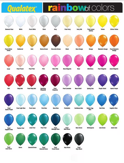 color options balloon colors