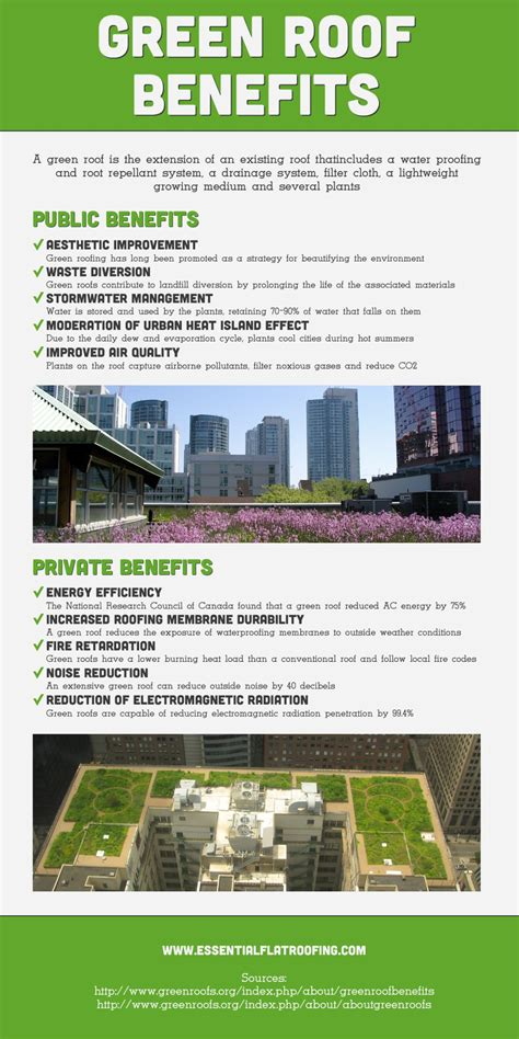 the benefits of green roofing visual ly