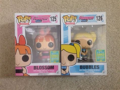 Funko Pop Animation The Powerpuff Blossom Exclusive 125 funko pop powerpuff 2016 summer convention exclusive collectibles in san jose ca