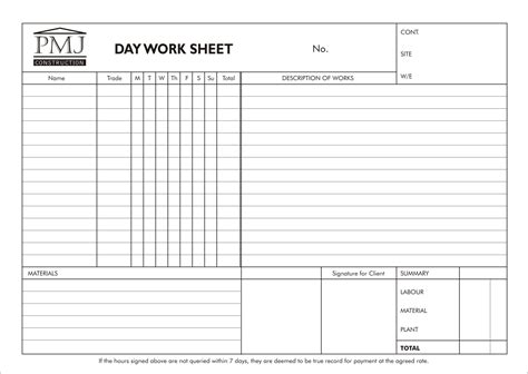 Day Worksheet Template Construction Free Printables Worksheet Sheets Construction Template