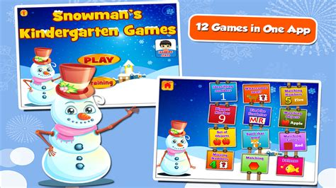 fun snowman kindergarten games android apps on google play