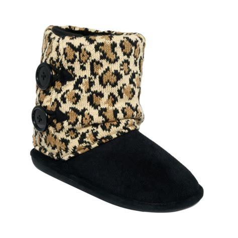 steve madden slippers steve madden bravvo boot slippers in black black leopard