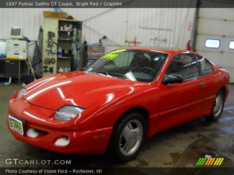 1997 bright red pontiac sunfire gt coupe 20533807 bright red 1997 pontiac sunfire gt coupe graphite interior gtcarlot com vehicle archive