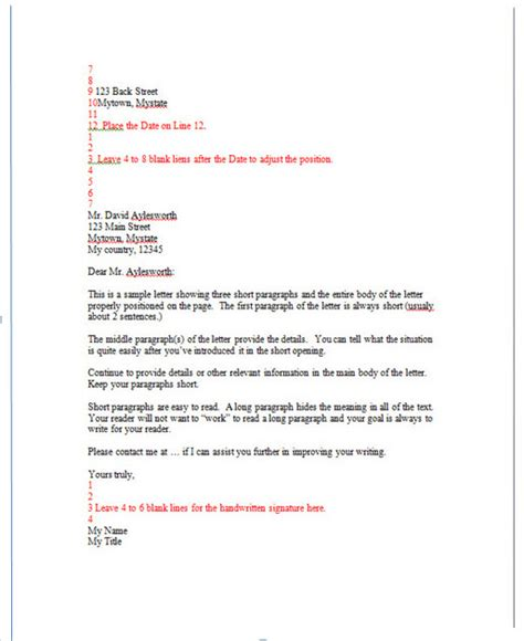 professional business letter template letter writing tips