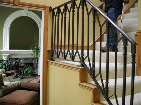 outdoor stair railing home depot wrought iron handrails