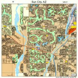 map of sun city arizona sun city arizona map 0470320
