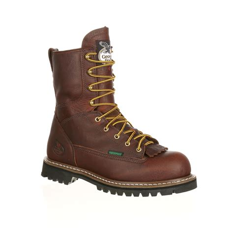 lace to toe work boots mens steel toe waterproof lace to toe work boot