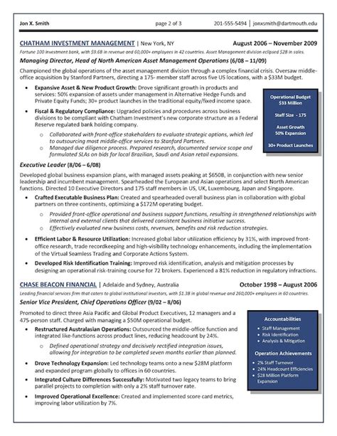 Coo Resume Exle by The Top 4 Executive Resume Exles Written By A Professional Recruiter