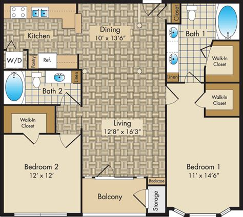 Liberty Place Floor Plans by Plan E The Liberty Place Apartments