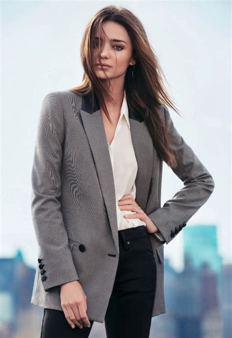 Blazer Miranda Kerr miranda kerr mango winter 2013 oversized blazer white
