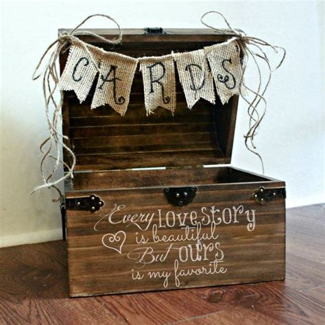 Wooden Wedding Gift Card Box - shabby chic rustic wooden card box wedding card box via etsy instead of this use