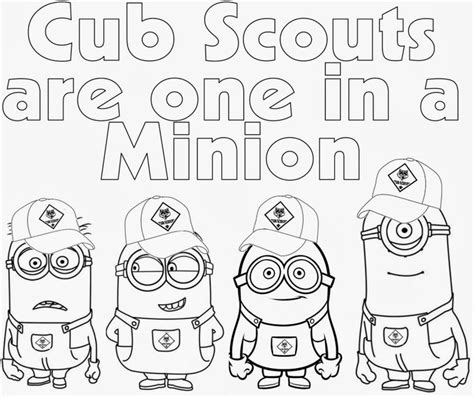 Cub Scout Coloring Pages Cub Scout Minions Prin Scouts Coloring Pages