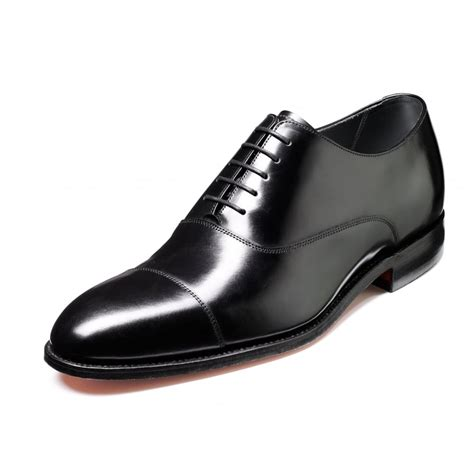 winsford black polished leather lace up oxford shoe