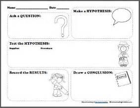 free scientific method printable worksheet for kids