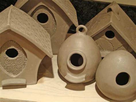 handmade pottery custom  birdfeeders bird houses