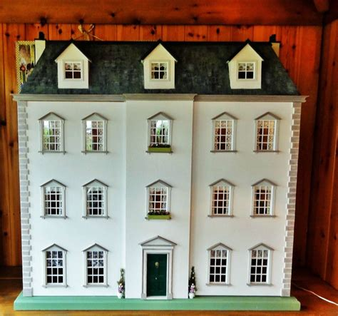 Handmade Dollhouse For Sale - details about stunning large 1 12 scale handmade georgian
