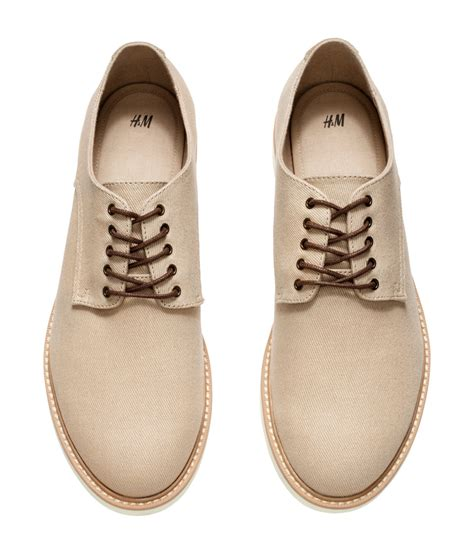 m and s shoes lyst h m canvas derby shoes in for