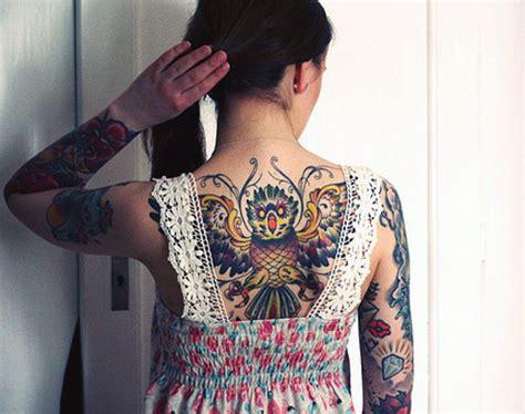 owl tattoo at the back back owl tattoo design ideas tattoos