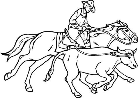 Cowboy Coloring Pages Free printable free rodeo cowboy coloring pages to drawing and