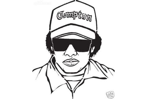 eazy e coloring page how to draw eazy e free clipart