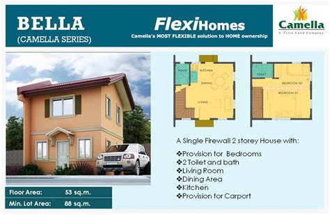 camella homes design with floor plan new camella homes model bella bulacanhomes